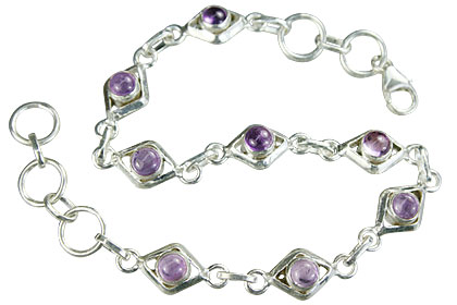 Design 14651: purple amethyst bracelets