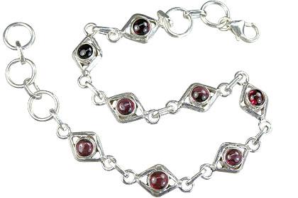 Design 14652: red garnet bracelets