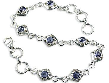 Design 14653: blue iolite contemporary bracelets