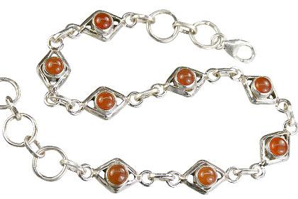 Design 14654: orange carnelian bracelets