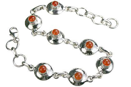 Design 14655: orange carnelian bracelets
