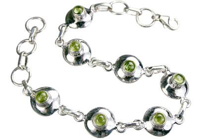 Design 14656: green peridot bracelets