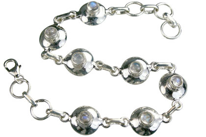Design 14659: white moonstone contemporary bracelets