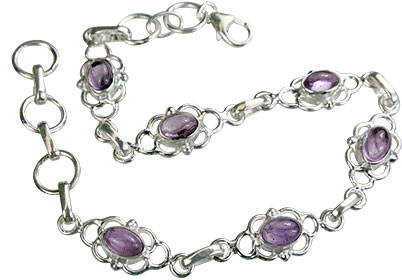 Design 14668: purple amethyst bracelets