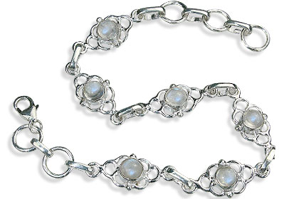 Design 14671: white moonstone contemporary bracelets