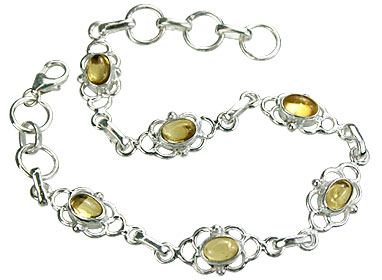 Design 14674: yellow citrine contemporary bracelets