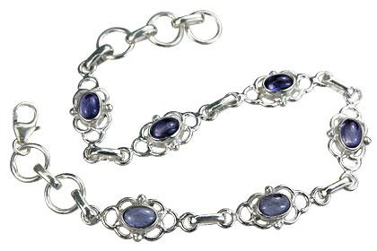Design 14676: blue iolite contemporary bracelets