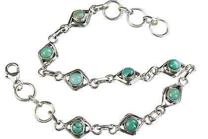 Design 14783: blue,green turquoise bracelets