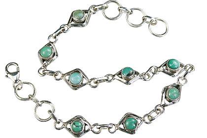 Design 14783: blue,green turquoise bracelets
