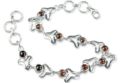 Design 14784: red garnet bracelets