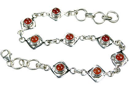 Design 14785: orange carnelian contemporary bracelets