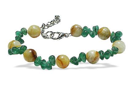 Design 14914: green,yellow aventurine bracelets