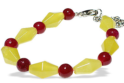 Design 14918: multi-color multi-stone bracelets