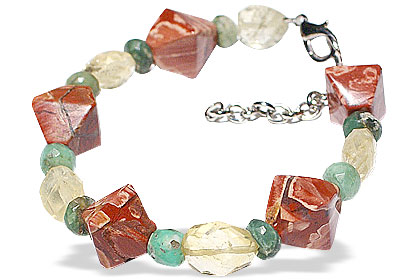 Design 14919: multi-color jasper bracelets