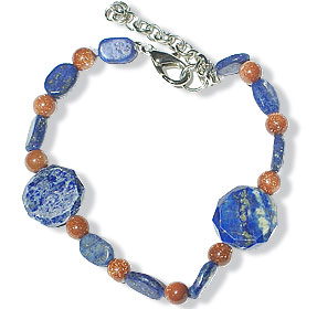 Design 14920: blue,brown lapis lazuli bracelets