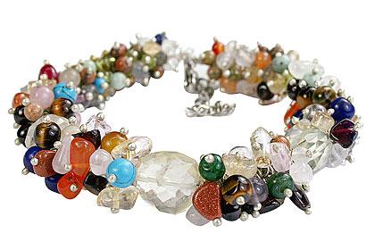 Design 14937: multi-color multi-stone bracelets