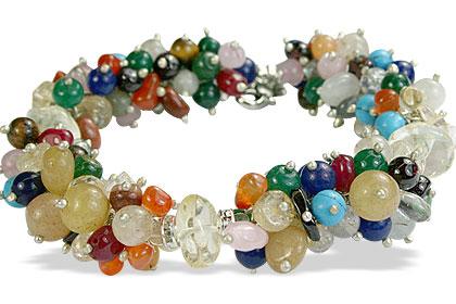 Design 14939: multi-color multi-stone bracelets