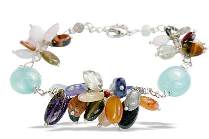 Design 14940: multi-color multi-stone bracelets