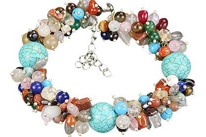 Design 14943: multi-color multi-stone bracelets