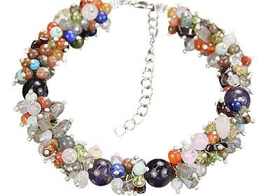 Design 14949: multi-color multi-stone bracelets