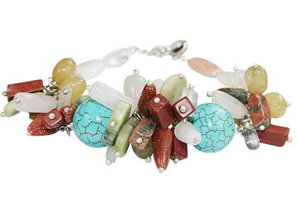 Design 14959: multi-color multi-stone bracelets