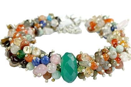 Design 14962: green,multi-color multi-stone bracelets