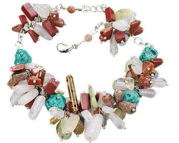 Design 14965: green,multi-color multi-stone bracelets