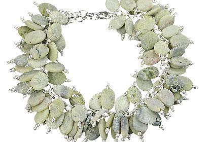 Design 15008: green jasper cha-cha bracelets