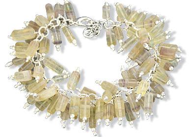 Design 15045: multi-color chalcedony bracelets
