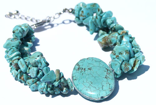Design 15100: blue turquoise american-southwest bracelets