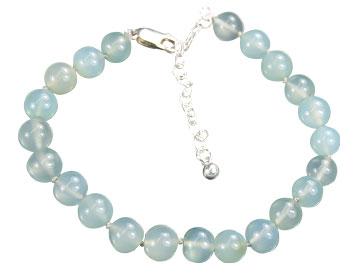 Design 16141: green chalcedony bracelets