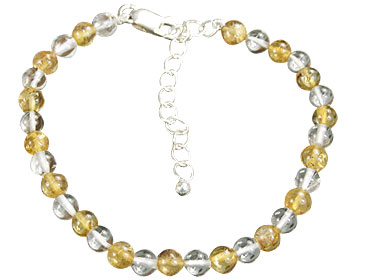 Design 16142: white,yellow crystal bracelets
