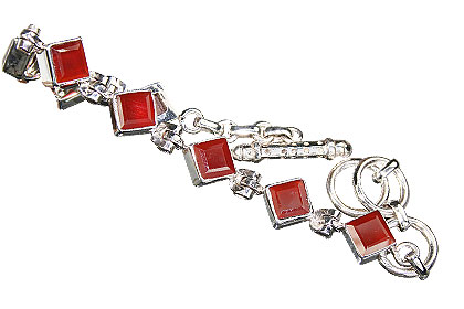 Design 16203: orange,red carnelian bracelets