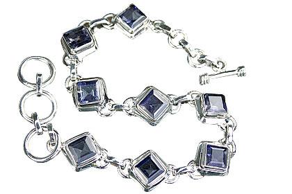 Design 16204: blue iolite bracelets