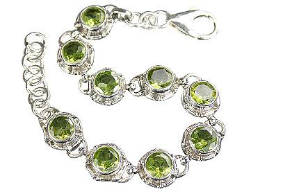 Design 16205: green peridot bracelets
