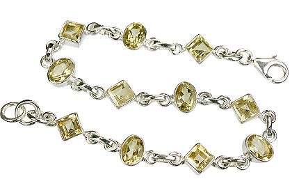 Design 16209: yellow citrine bracelets