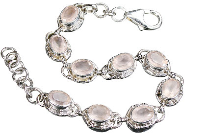 Design 16210: pink rose quartz bracelets
