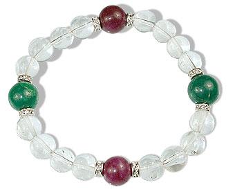 Design 16389: multi-color multi-stone stretch bracelets