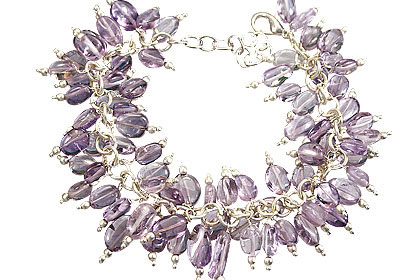 Design 16484: purple amethyst clustered bracelets