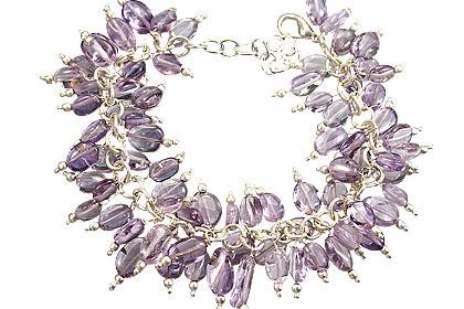 Design 16484: purple amethyst clustered bracelets