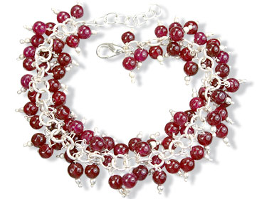 Design 16487: red aventurine bracelets