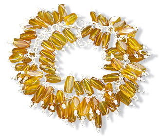 Design 16490: yellow aventurine bracelets
