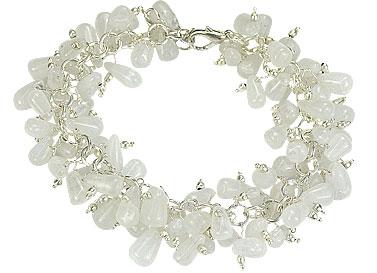 Design 16496: white aventurine clustered bracelets