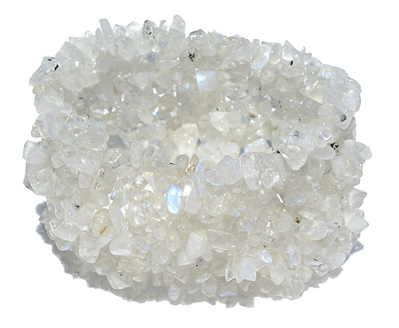 Design 9453: white moonstone chipped bracelets