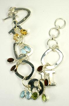 Design 9487: multi-color multi-stone bracelets