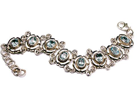 Design 9578: blue blue topaz gothic-medieval bracelets