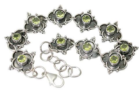 Design 9580: green peridot bracelets