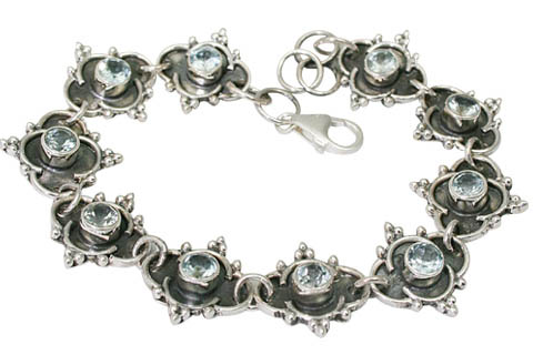 Design 9581: blue blue topaz bracelets