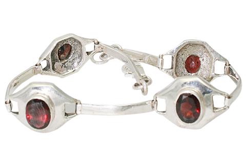 Design 9583: red garnet bracelets