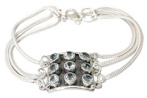 Design 9586: blue blue topaz gothic-medieval bracelets